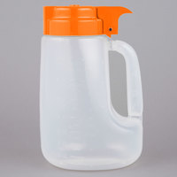 Tablecraft PP32X Orange Top Option 32 oz. Dispenser Jar