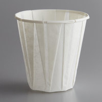 Genpak W400F Harvest Paper Compostable 4 oz. White Paper Souffle / Drinking Cup - 2500/Case