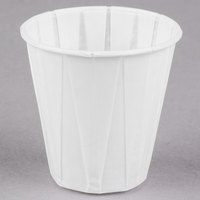 Genpak Harvest W400F 4 oz. White Paper Souffle / Drinking Cup - 2500 / Case