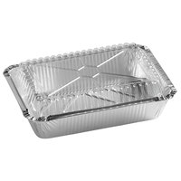 Choice 2.25 lb. Foil Oblong Take-Out Container with Dome Lid   - 250/Case