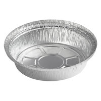 Choice 7 inch Round Heavy Weight Foil Take-Out Pan - 500/Case