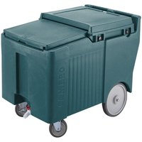 Cambro ICS125LB192 Granite Green Sliding Lid Portable Ice Bin - 125 lb. Capacity