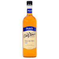 DaVinci Gourmet 750 mL Peach Sugar Free Coffee Flavoring / Fruit Syrup