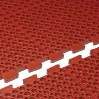 Cactus Mat 4420-RC VIP Duralok 3' x 5' Red Center Interlocking Grease-Resistant Anti-Fatigue Anti-Slip Floor Mat - 3/4 inch Thick