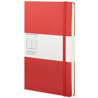 Moleskine QP060R 8 1/4 inch x 5 inch Red 240 Page Narrow Ruled Hardcover Notebook