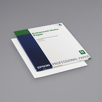 Epson S041908 17 inch x 22 inch White Pack of 10 Mil Ultra Premium Matte Presentation Paper - 50 Sheets