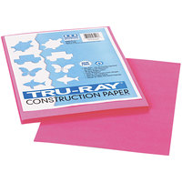 Pacon 103013 Tru-Ray 9 inch x 12 inch Shocking Pink Pack of 76# Construction Paper - 50 Sheets