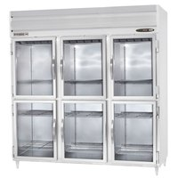 Beverage-Air PRD3-1BHG-LED 78 inch Stainless Steel Glass Half Door Pass-Through Refrigerator