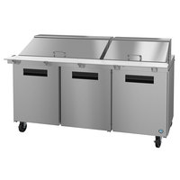 Hoshizaki SR72A-30M 72 inch 3 Door Mega Top Stainless Steel Refrigerated Sandwich Prep Table