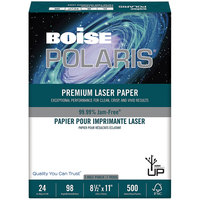 Boise BPL0111P Polaris 8 1/2 inch x 11 inch White Premium 3-Hole Ream of 24# Laser Paper - 500 Sheets