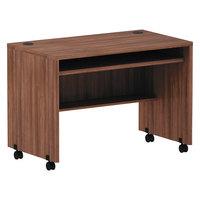 Alera ALEVA204224WA Valencia 41 3/8 inch x 23 5/8 inch Walnut Mobile Workstation Desk