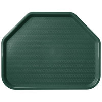 Carlisle CT1713TR08 Customizable Cafe 14 inch x 18 inch Forest Green Trapezoid Plastic Fast Food Tray   - 12/Case