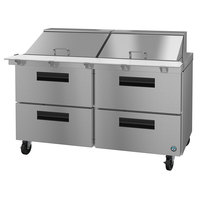 Hoshizaki SR60A-24MD4 60 inch 4 Drawer Mega Top Stainless Steel Refrigerated Sandwich Prep Table