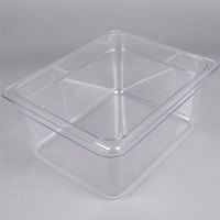 Cambro 26CW135 Camwear 1/2 Size Clear Polycarbonate Food Pan - 6 inch Deep