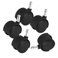 Master Caster 23624 Deluxe Duet Polyurethane Casters - 5/Set