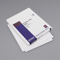 Epson S045033 8 1/2 inch x 11 inch White Pack of 13 Mil Exhibition Fiber Paper - 25 Sheets