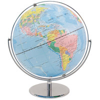 Advantus 30502 12 inch World Globe with Blue Oceans and Metal Desktop Base
