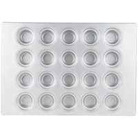 20 Cup Aluminized Steel 7.33 oz. Large Crown Muffin Pan