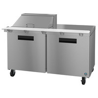 Hoshizaki SR60A-12M 60 inch 2 Door Mega Top Stainless Steel Refrigerated Sandwich Prep Table