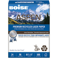 Boise BPL2411RC Aspen 8 1/2 inch x 11 inch White Premium Ream of 24# Laser Paper - 500 Sheets