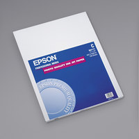 Epson S041171 17 inch x 22 inch Bright White Pack of 4.9 Mil Smooth Matte Presentation Paper - 100 Sheets
