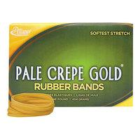 Alliance 20325 Pale Crepe Gold #32 Rubber Bands, 12 lb. - 1100/Box