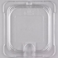 Carlisle 10317U07 StorPlus 1/6 Size Clear Universal Flat Lid with Spoon Notch