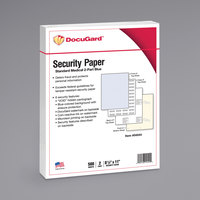 DocuGard 04544 8 1/2 inch x 11 inch Blue / Canary Pack of 32# Medical Security Paper - 250 Sheets