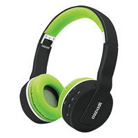 Maxell 199752 Black / Green Wireless Bluetooth Headphones with Microphone