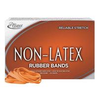 Alliance 37646 3 1/2 inch x 1/4 inch Orange Non-Latex #64 Rubber Bands 24 lb. - 380/Box