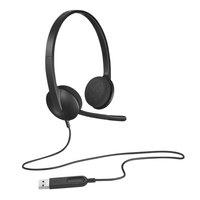 Logitech 981000507 H340 Black USB Corded Headset