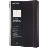 Moleskine PROPFNTB7HBK 11 inch x 8 1/2 inch Black 176 Page Medium/College Ruled Professional Notebook