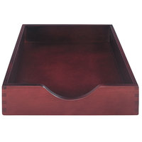 Advantus 07213 10 1/4 inch x 12 1/2 inch x 2 1/2 inch Mahogany 1 Section Letter-Size Stackable Desk Tray