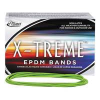 Alliance 02005 X-Treme 7 inch x 1/8 inch Lime Green #117B EPDM Rubber Bands, 12 lb. - 200/Box