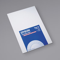 Epson S041289 13 inch x 19 inch High-Gloss White Pack of 10.4 Mil Premium Photo Paper - 20 Sheets