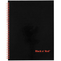 Black n' Red 67030 8 1/2 inch x 11 inch Black Twinwire Hardcover 70 Page Wide / Legal Ruled Notebook - 2/Pack