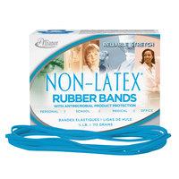 Alliance 42179 7 inch x 1/8 inch Cyan Blue Antimicrobial Non-Latex #117B Rubber Bands, 12 lb. - 62/Box