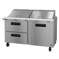 Hoshizaki SR60A-24MD2 60 inch 1 Door, 2 Drawer Mega Top Stainless Steel Refrigerated Sandwich Prep Table