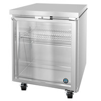 Hoshizaki UR27A-GLP01 27 inch Low Profile Glass Door Undercounter Refrigerator with Lock