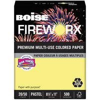Boise MP2201CY Fireworx 8 1/2 inch x 11 inch Crackling Canary Premium Ream of 20# Multi-Use Paper - 500 Sheets