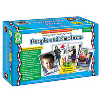 Carson Dellosa D44044 People and Emotions Photographic Learning Cards Boxed Set