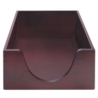 Advantus 08223 10 7/8 inch x 16 1/4 inch x 5 inch Mahogany 1 Section Legal-Size Double-Deep Stackable Desk Tray