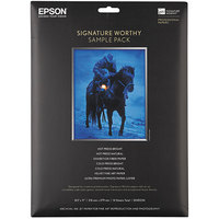 Epson S045234 Signature Worthy 8 1/2 inch x 11 inch White Pack of Paper Sample Pack - 14 Sheets