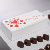 7 1/8 inch x 3 3/8 inch x 1 7/8 inch 1-Piece 1 lb. Valentine's Day Candy Box   - 250/Case