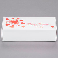 7 1/8 inch x 3 3/8 inch x 1 7/8 inch 1-Piece 1 lb. Valentine's Day Candy Box - 250/Case