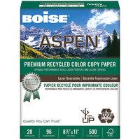 Boise ACC2811 Aspen 8 1/2 inch x 11 inch White Premium Color Ream of 28# Copy Paper - 500 Sheets