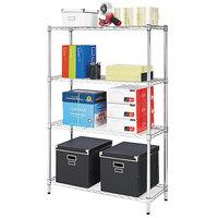 Alera ALESW843614SR 14 inch x 36 inch x 54 inch Silver Steel Wire Shelving 4-Shelf Starter Kit