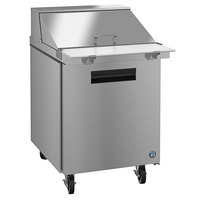 Hoshizaki SR27A-12M 27 inch 1 Door Mega Top Stainless Steel Refrigerated Sandwich Prep Table