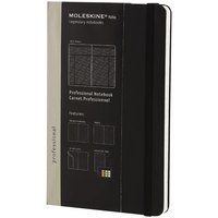Moleskine PROPFNTB3HBK 8 1/4 inch x 5 inch Black 240 Page Narrow Ruled Professional Notebook