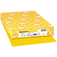 Astrobrights 22533 11 inch x 17 inch Solar Yellow Ream of 24# Color Paper - 500 Sheets